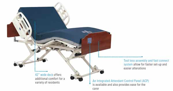 CS7 Wide Deck Electric Bed