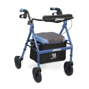 Airgo Comfort Plus XWD Bariatric Rollator Iridescent Blue