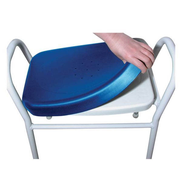 Aluminium Shower Stool with Plastic Moulded Seat