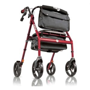 Hugo Elite Rollator Garnet Red