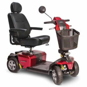 Luxury Mobility Scooter Victory 10 LX With CTS Suspension Candy Apple Red