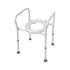 Folding Over Toilet Frame