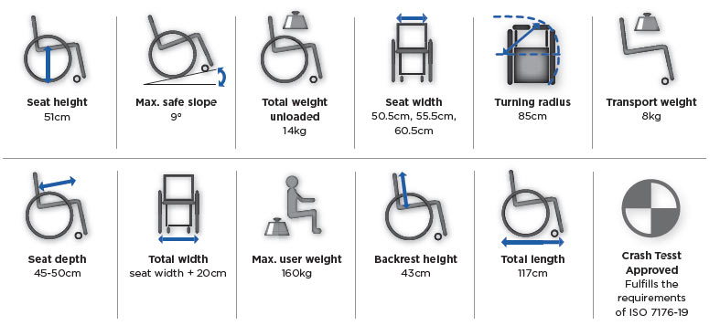 Bariatric Wheelchair A4NG features