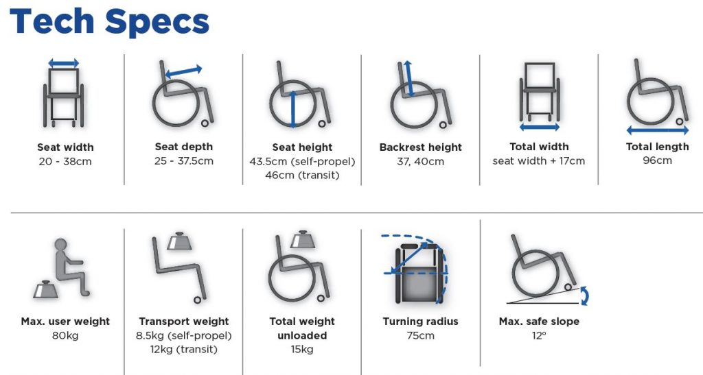 Action Junior Pediatric Wheelchair Specs