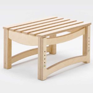 Adjustable Slatted Stool