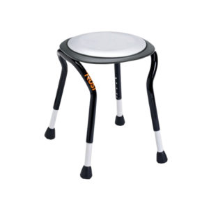 Let's Frisbee Black Shower Stool